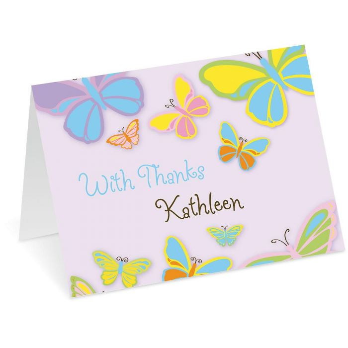 Butterfly Personalized Thank You Cards Current Catalog - butterfly thank you cards