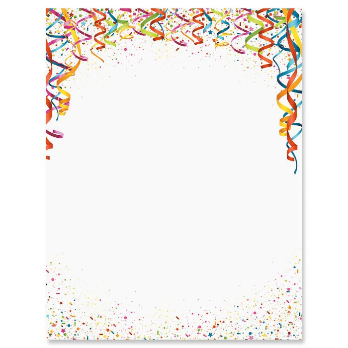 Celebration Confetti Letter Papers Current Catalog - celebration letter