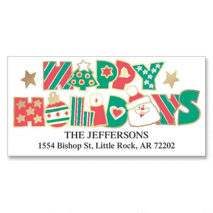 Holiday Fun Foil Deluxe Label Current Catalog