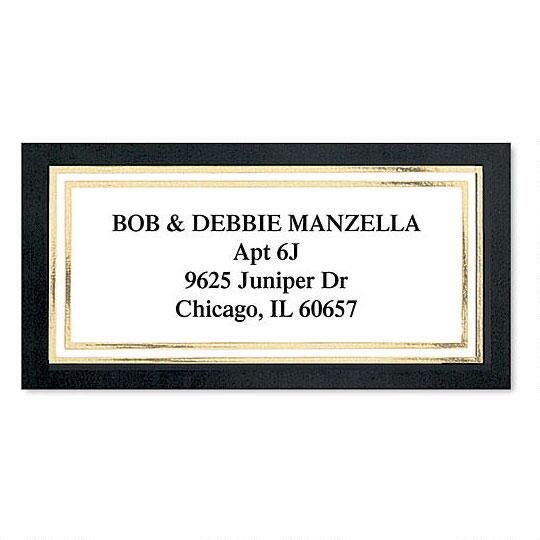 Black  Gold Foil Border Label Current Catalog - Address Label