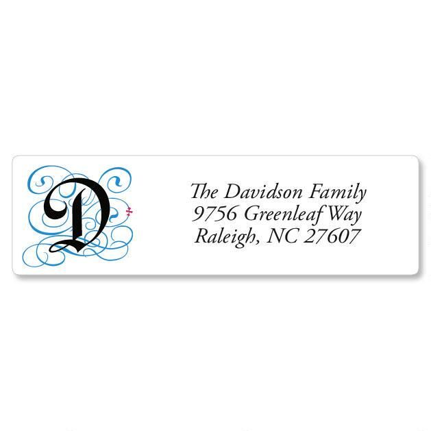 Gothic Monogram Classic Address Labels Current Catalog - Address Label