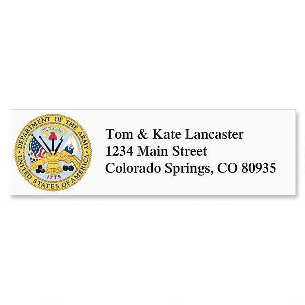 Army Address Labels Current Catalog - Address Label