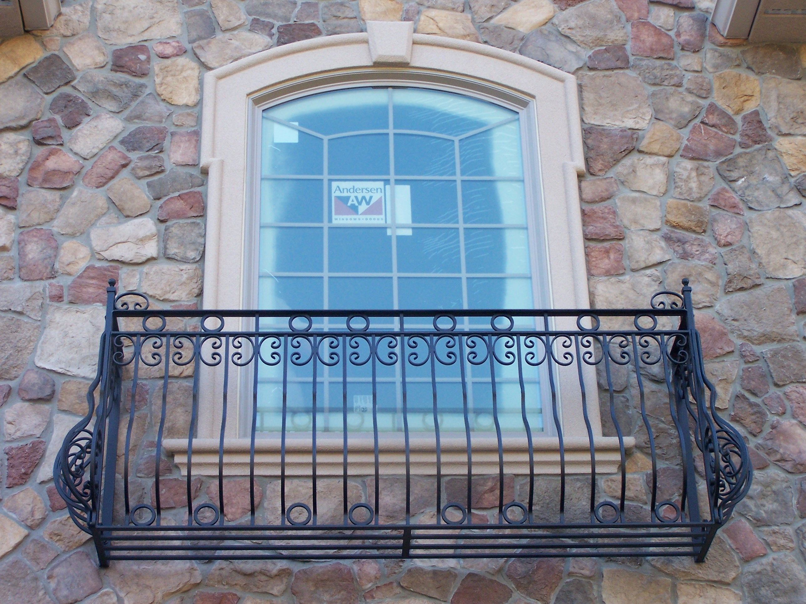 Hand Made Pre Hung Wrought Iron Romeo Juliet Balcony By