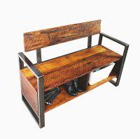Buy a Custom Unique Reclaimed Wood Storage Foyer Bench ...