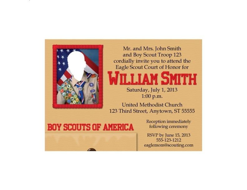 Hand Crafted Eagle Scout Court Of Honor Invitation Scout