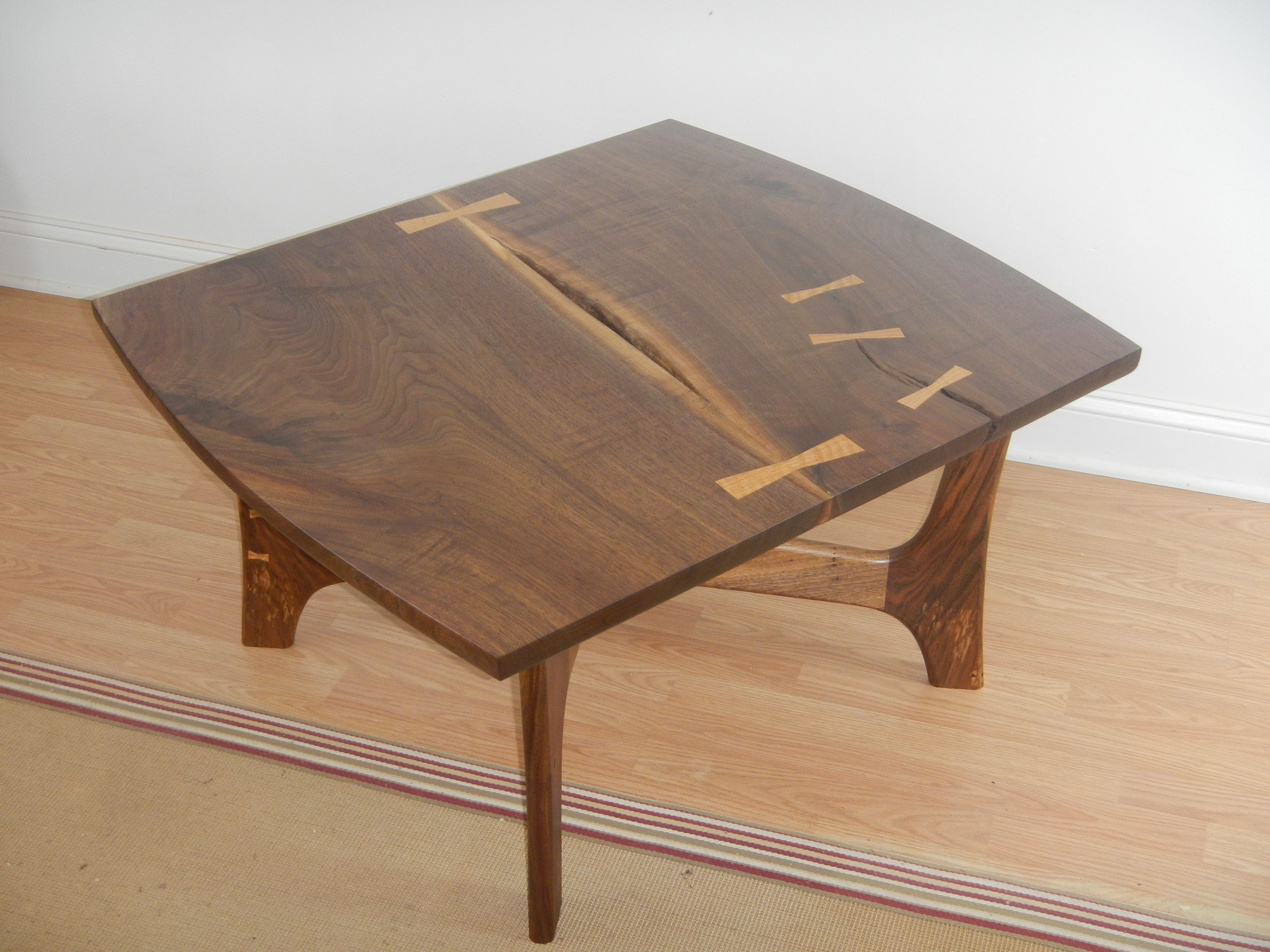 Mid Century Black Coffee Table Custom Made Black Walnut Mid Century Modern Style Coffee