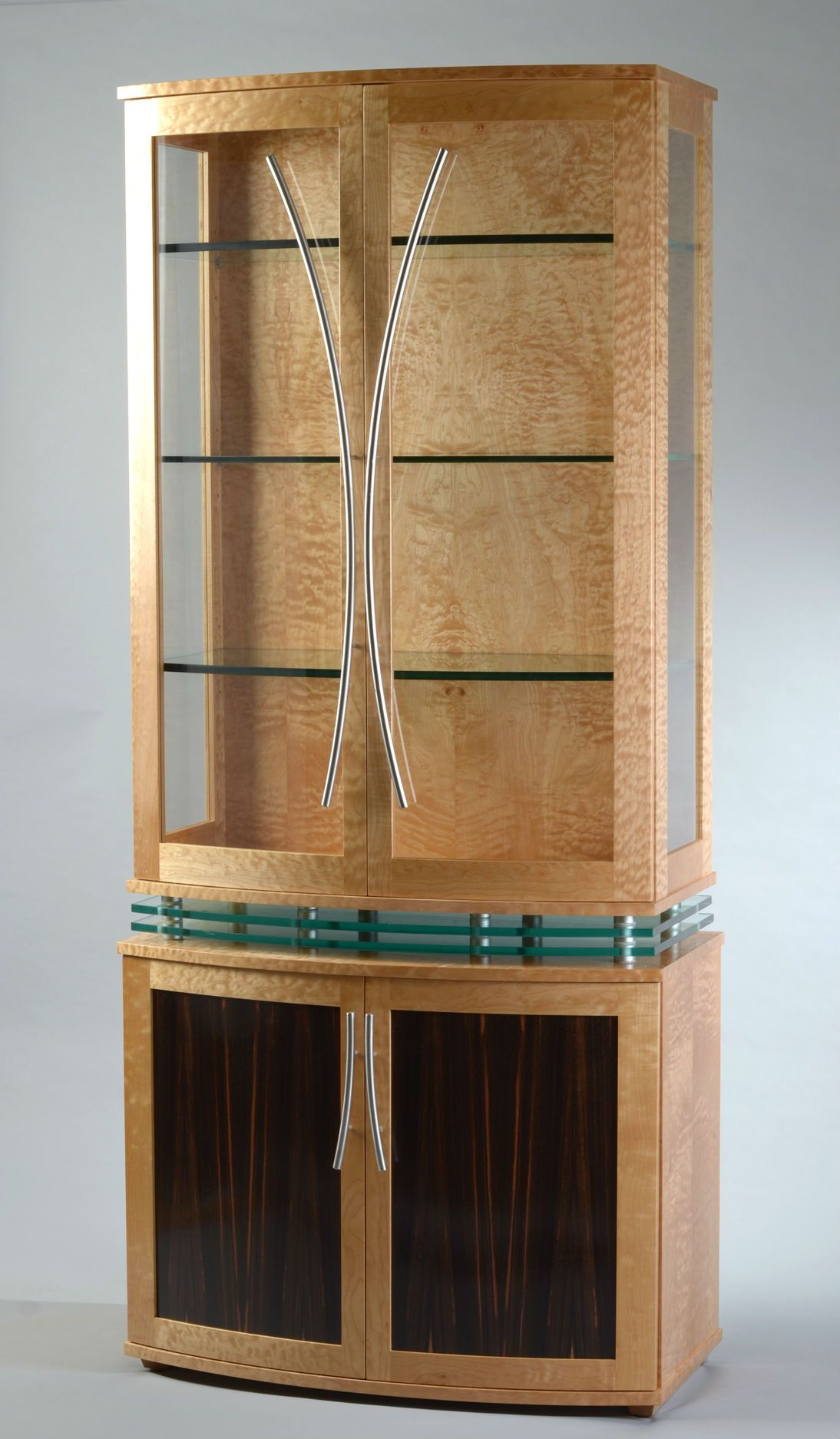 Modern Display Cabinet Custom Made China Cabinet Art Deco Style Modern Display