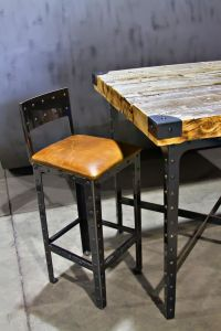 Hand Made Industrial Pub Height Table & Bar Stools by ...