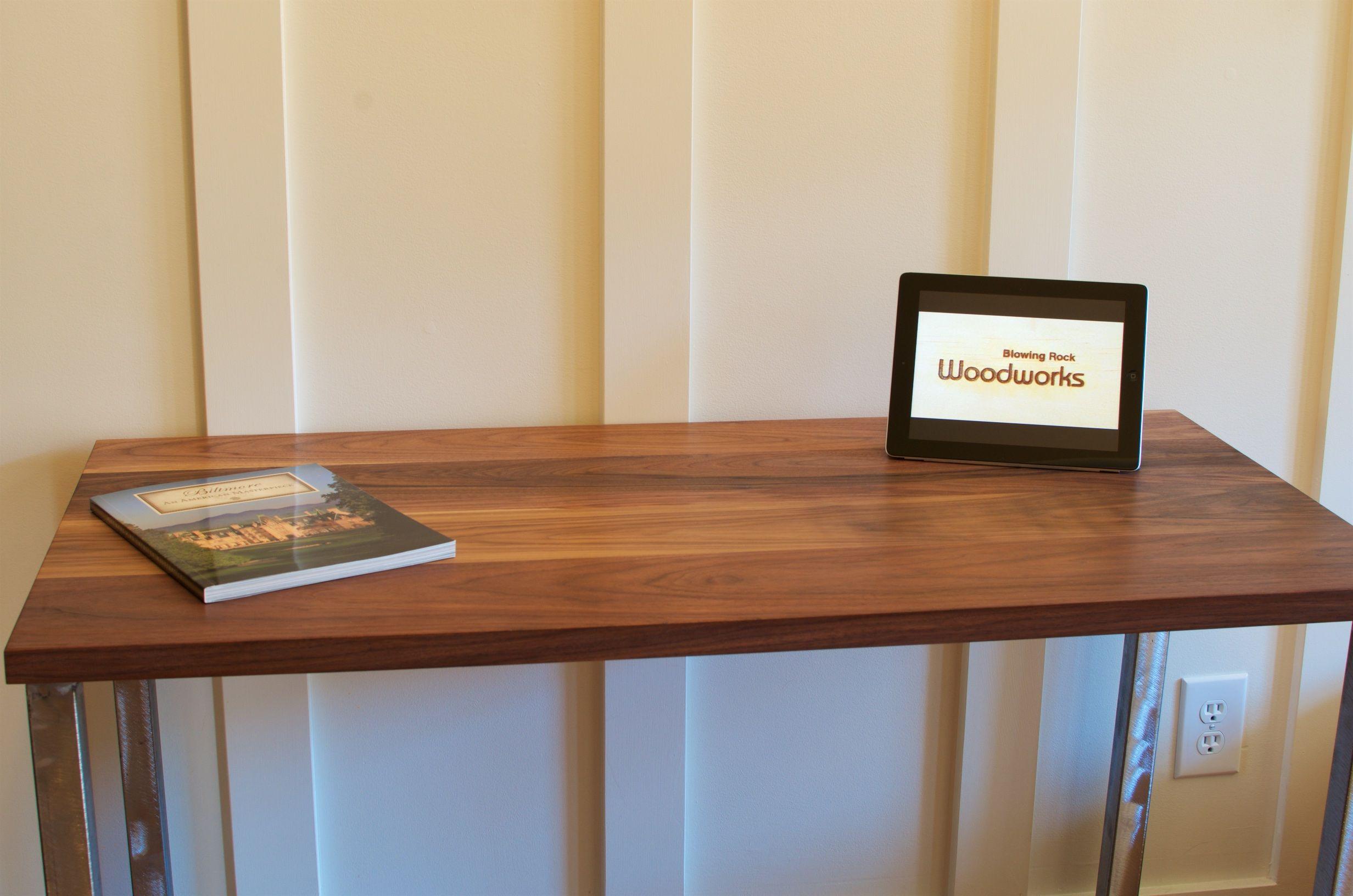 Buy Handmade Walnut Wood Desk, Modern Walnut Desk, Brushed
