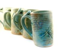 Custom Made Ceramic Mug Dragonfly Coffee Cup Large Pottery ...