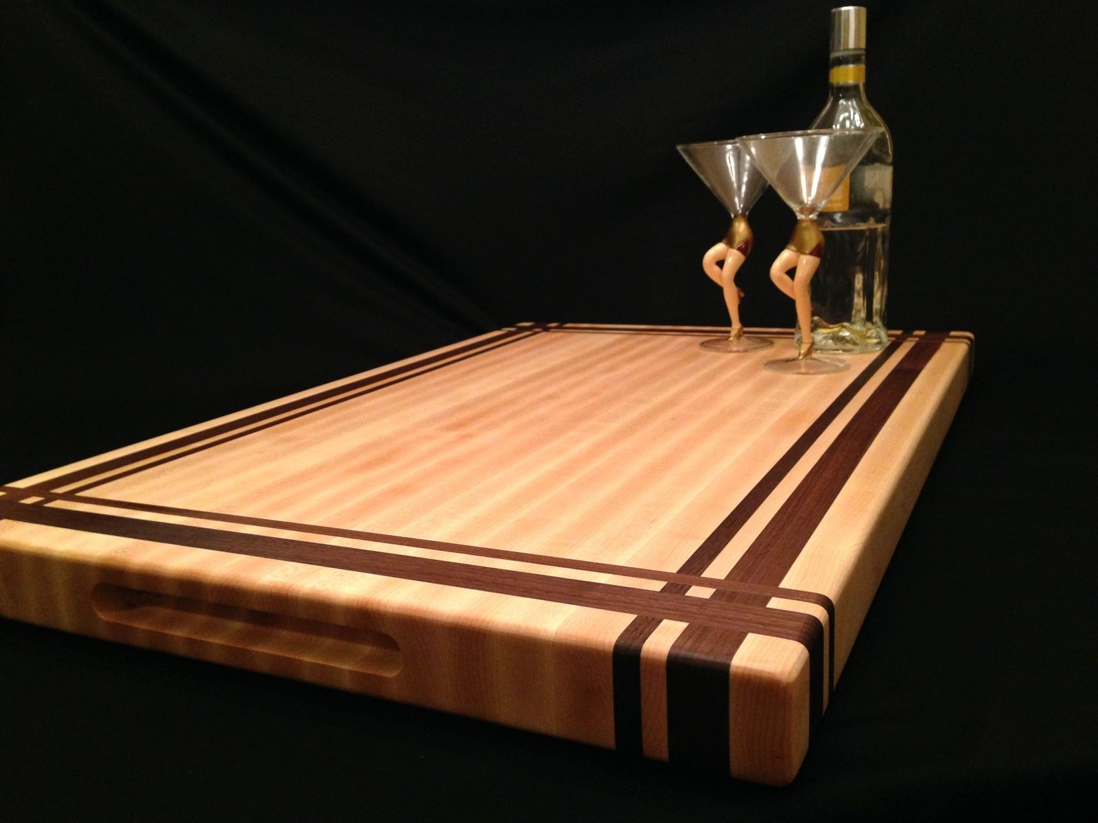 Extra Large Wooden Chopping Board Buy A Custom Large Rock Maple And Black Walnut Cutting