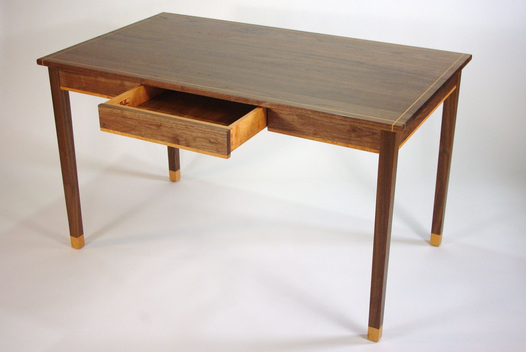 Writing Table Plans Handmade Black Walnut And Cherry Writing Desk By Rugged