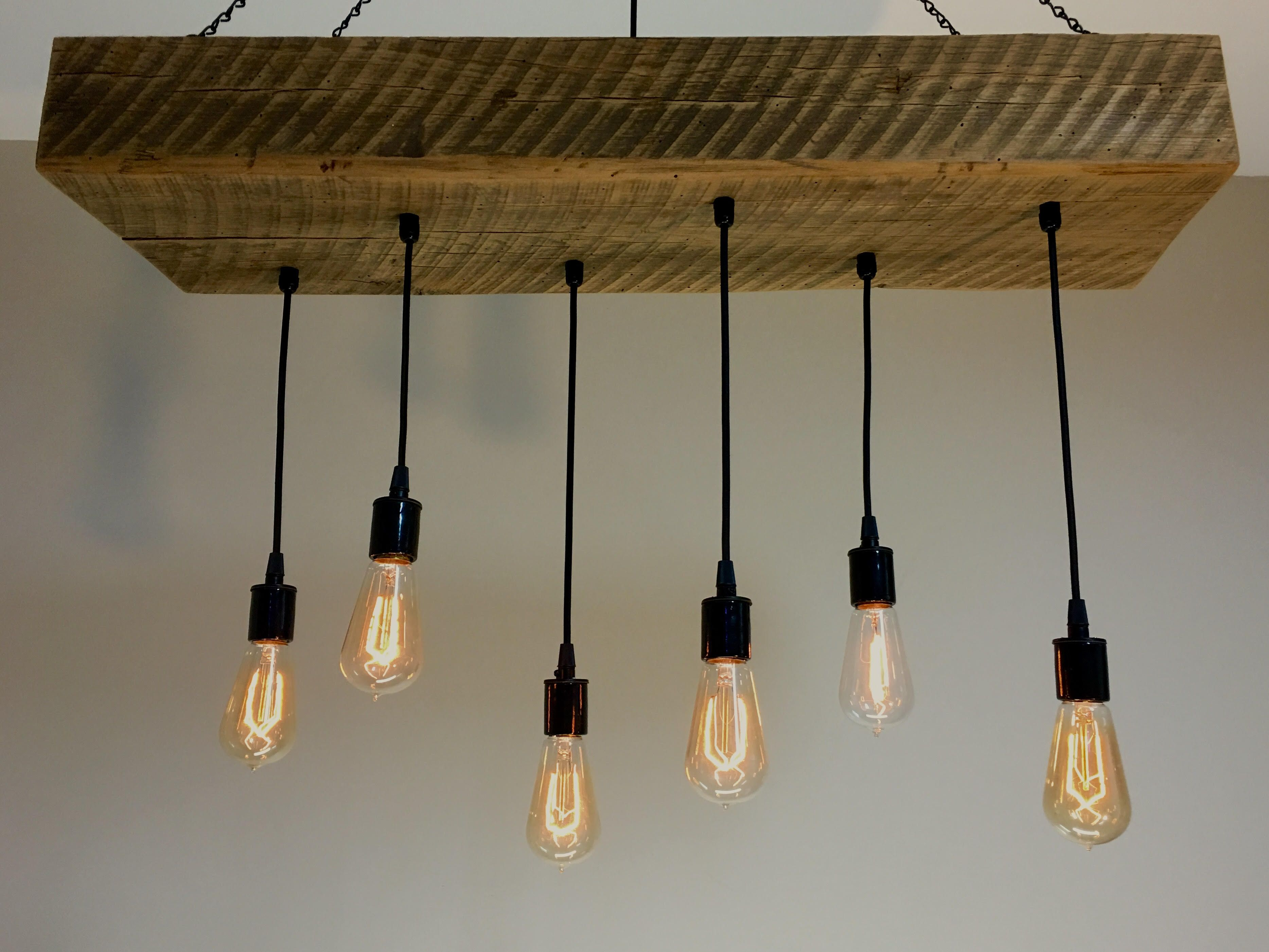 Wood Light Fittings Buy Hand Crafted Reclaimed Barn Wood 1 2 Beam Chandelier