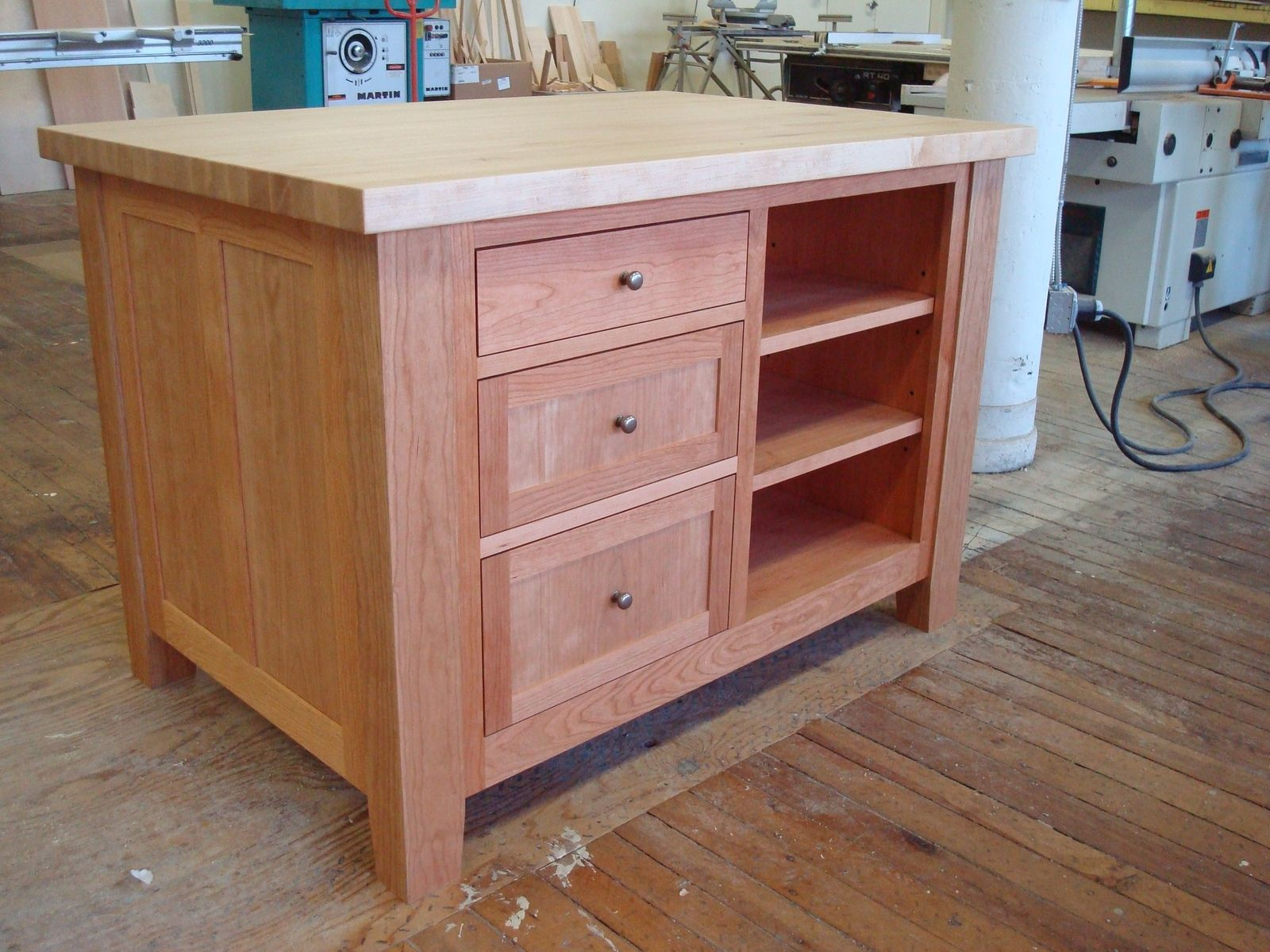 Kitchen Cabinets Made Into Island Hand Made Freestanding Craft Table Kitchen Island By