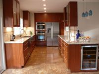 Custom Modern Mahogany Kitchen Cabinets by Natural Mystic