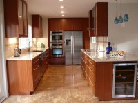 Custom Modern Mahogany Kitchen Cabinets by Natural Mystic ...