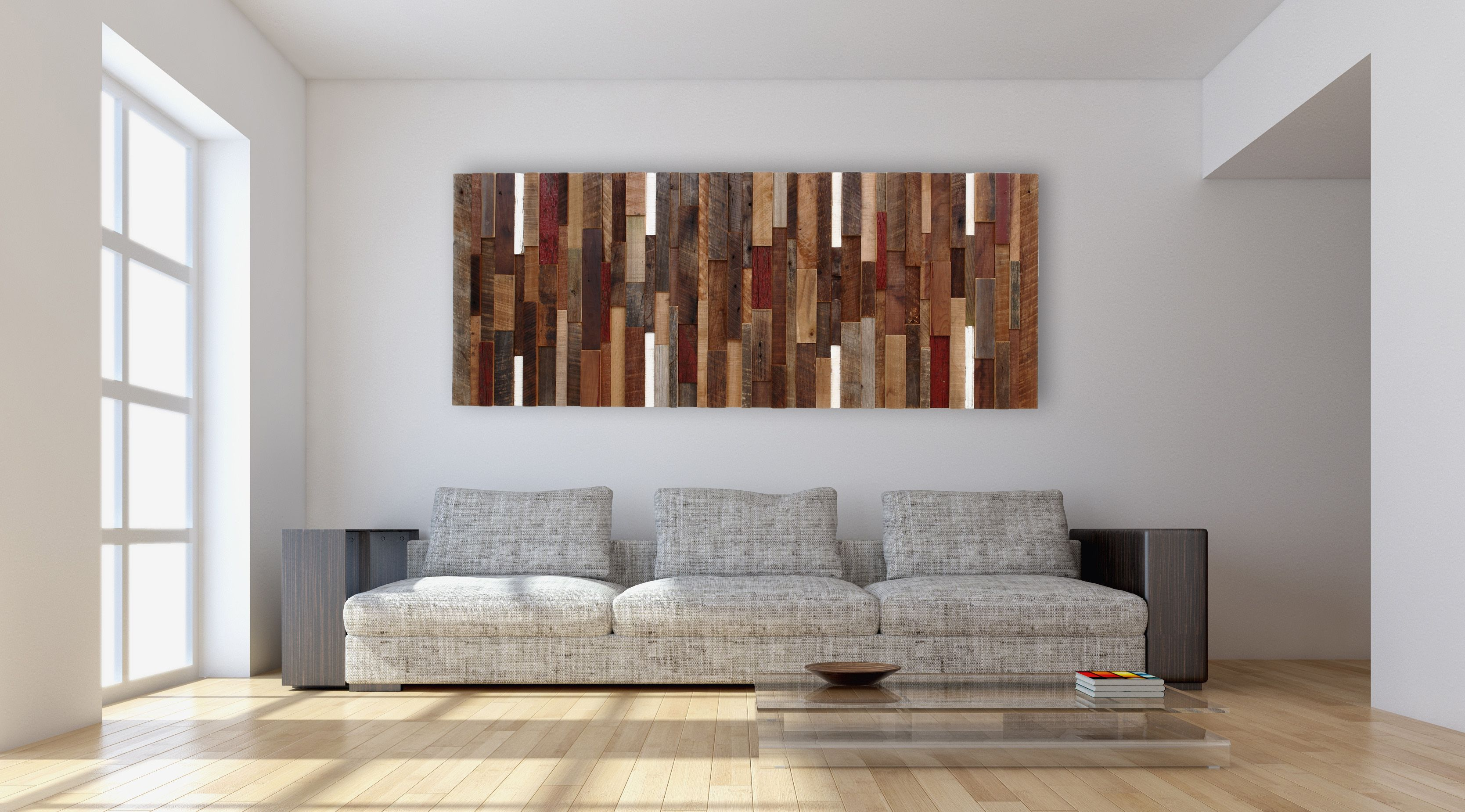 Wandbilder Modern Art Hand Made Reclaimed Wood Wall Art Made Intirely Of