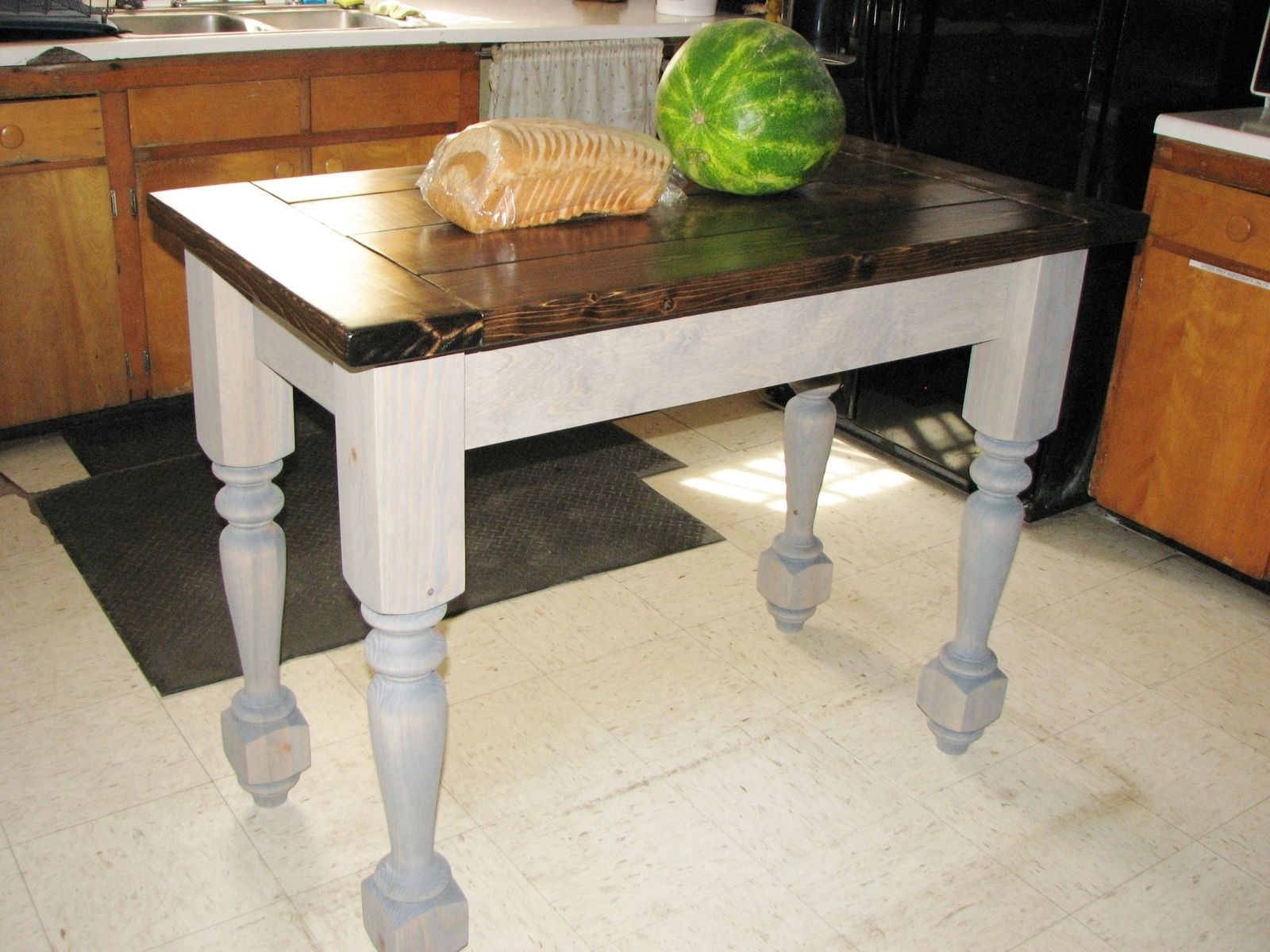 Kitchen Island Table Legs Buy A Custom Turned Legs Kitchen Island Made To Order