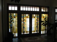 Hand Made Front Entrance Door Inserts by Prairie Studio