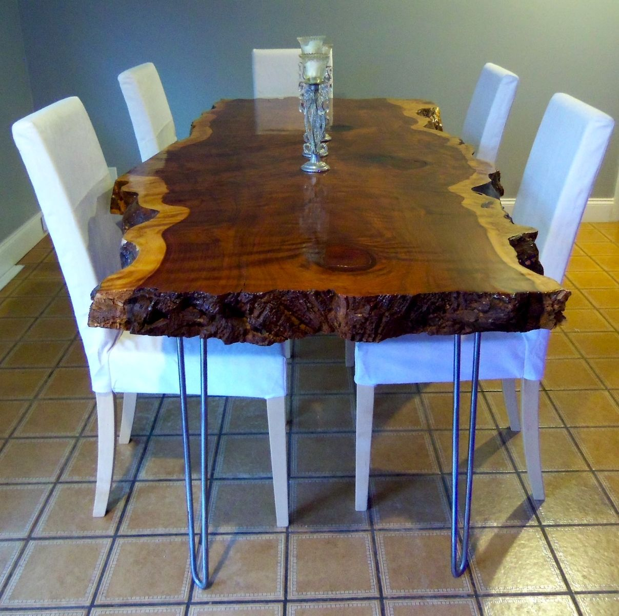 Diy 8 Person Dining Table Hand Crafted Live Edge Redwood Kitchen Table By Ozma