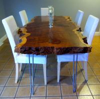 Hand Crafted Live Edge Redwood Kitchen Table by Ozma ...