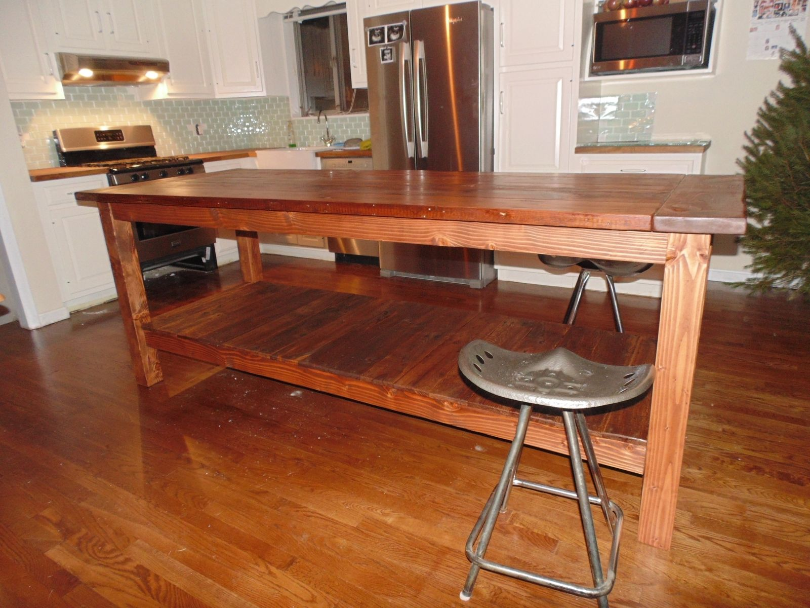 Bunnings Bar Stools Hand Crafted Reclaimed Wood Farmhouse Kitchen Island By