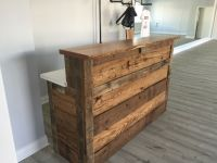 Hand Made Reclaimed Barnwood Reception Desk by M.Karl, LLC ...