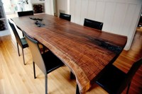 Handmade Live Edge Modern Walnut Dining Table by Taylor ...