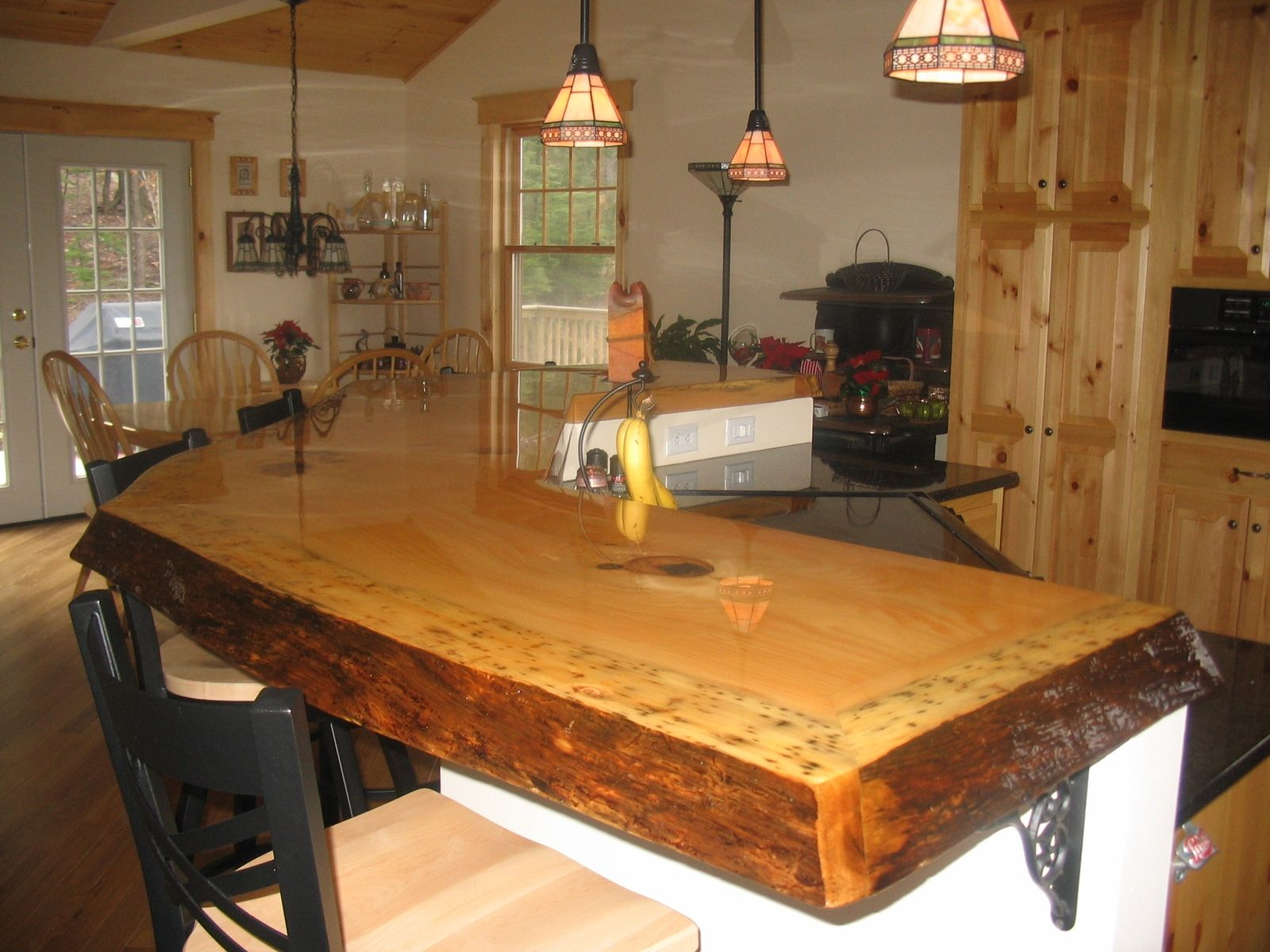 Western Countertops Custom Made Rustic Bar Top By Timeless Woodworking