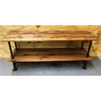 Hand Made Industrial Tv/Media Console And Record Stand by