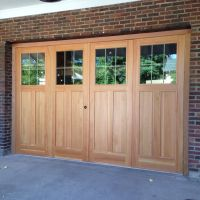 Custom 9' X 14' Douglas Fir Bi-Fold Garage Doors by The ...