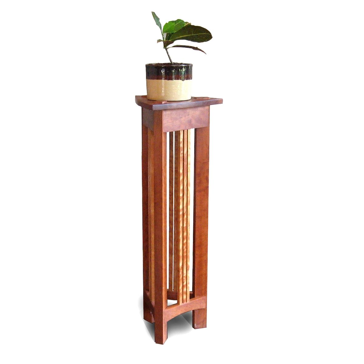 Wood And Metal Plant Stand Hand Made Plant Stand By Mark Love Furniture Custommade