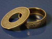 Hand Made Coin Ring Jewelry - - - - - (( British India One ...