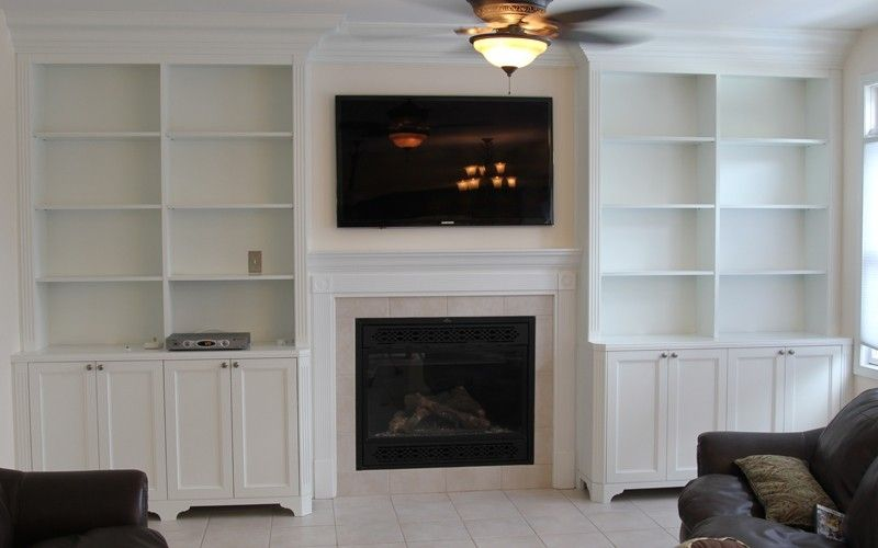 Built In Bookshelves Around Fireplace Custom Made Bookcases By Stan Loskot Fine Woodworking