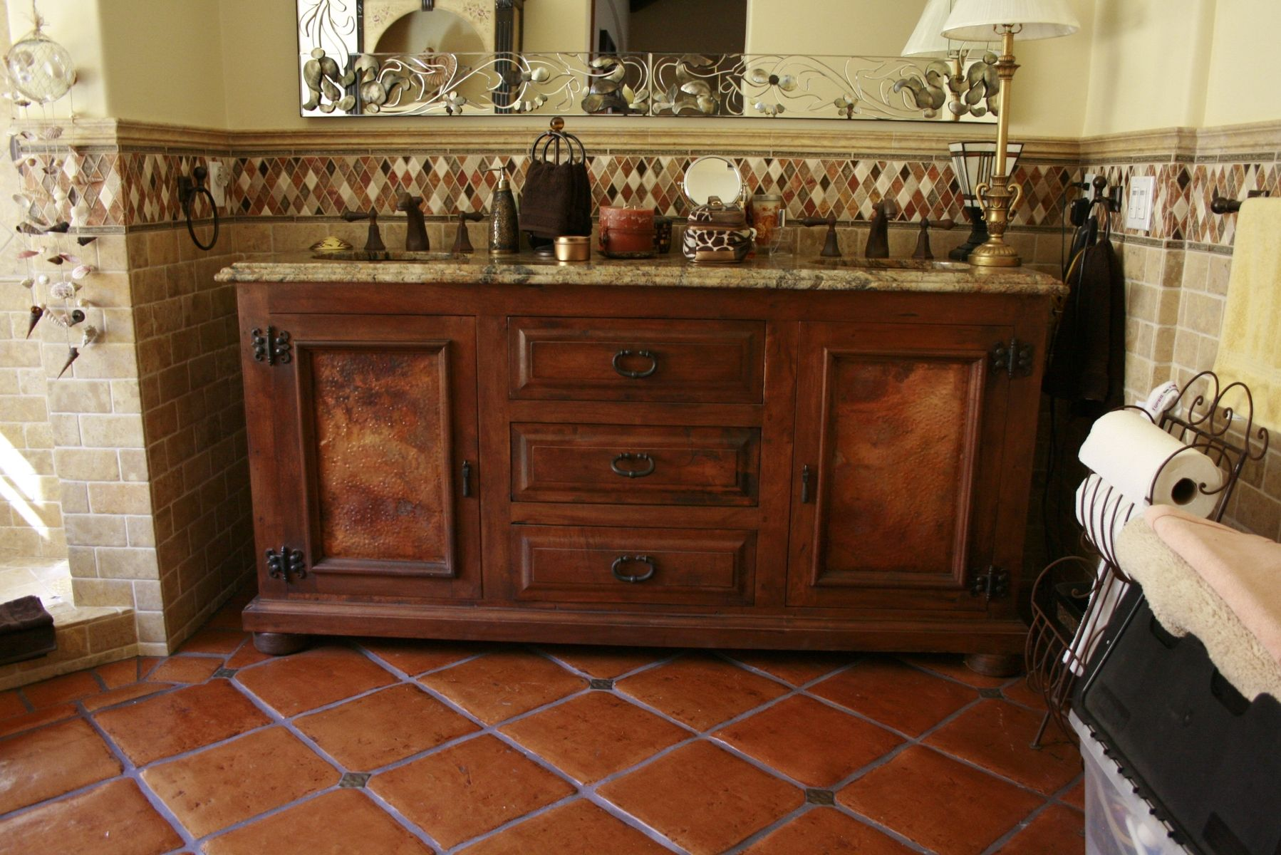 Arte De Mexico Beds Hand Made Mesquite Vanity By Demejico Inc Manufactures