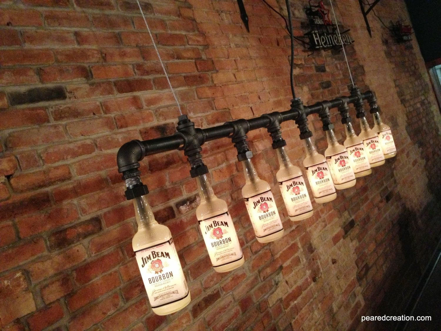 Industrial Chic Lighting Buy A Hand Made Industrial Style Chandelier Bottle Light