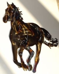 Custom Made Running Horse Metal Wall Art Sculpture by ...