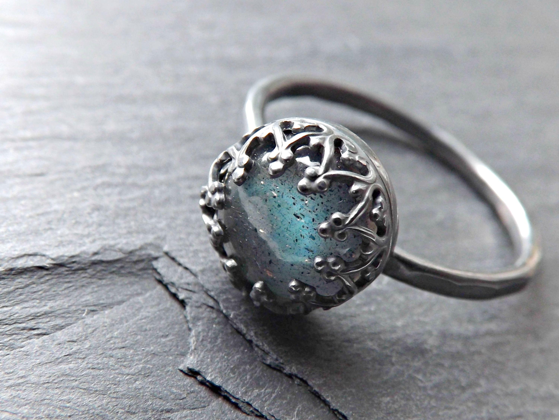 labradorite wedding ring crown wedding rings