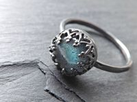 Buy a Custom Blue Labradorite Ring Sterling Silver Crown ...