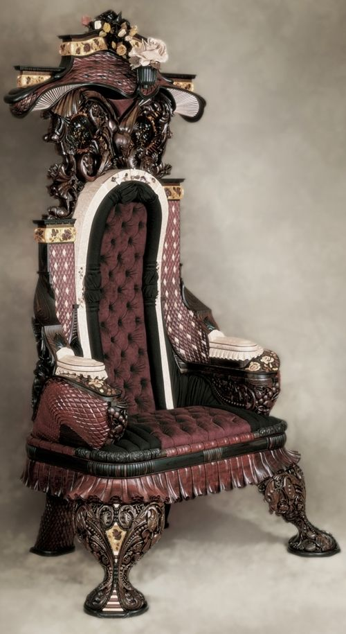 Hand Made Hand Carved Rosewood Inlaid Chair By Gallivan39s