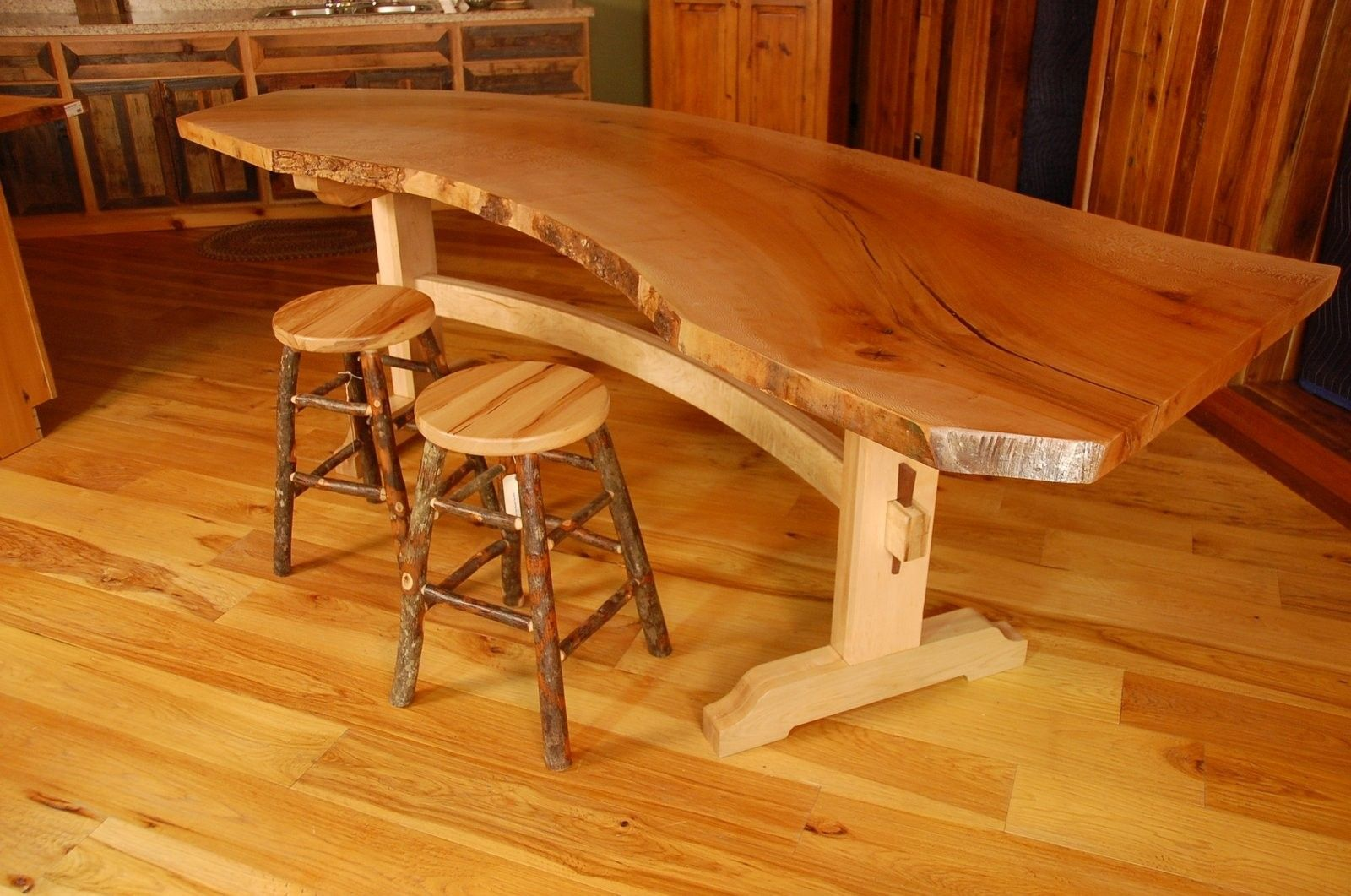 Japanese Dining Table For Sale Handmade Sycamore Live Edge Slab Dining Table By Corey