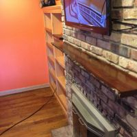Hand Crafted Live Edge Slab Fireplace Mantel by MAD Custom ...
