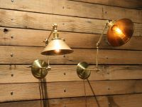 Hand Made Brass Wall Sconce, Industrial Articulating Wall ...