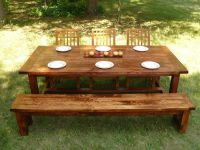 Custom Made Farmhouse Style Dining Table And Bench by ...