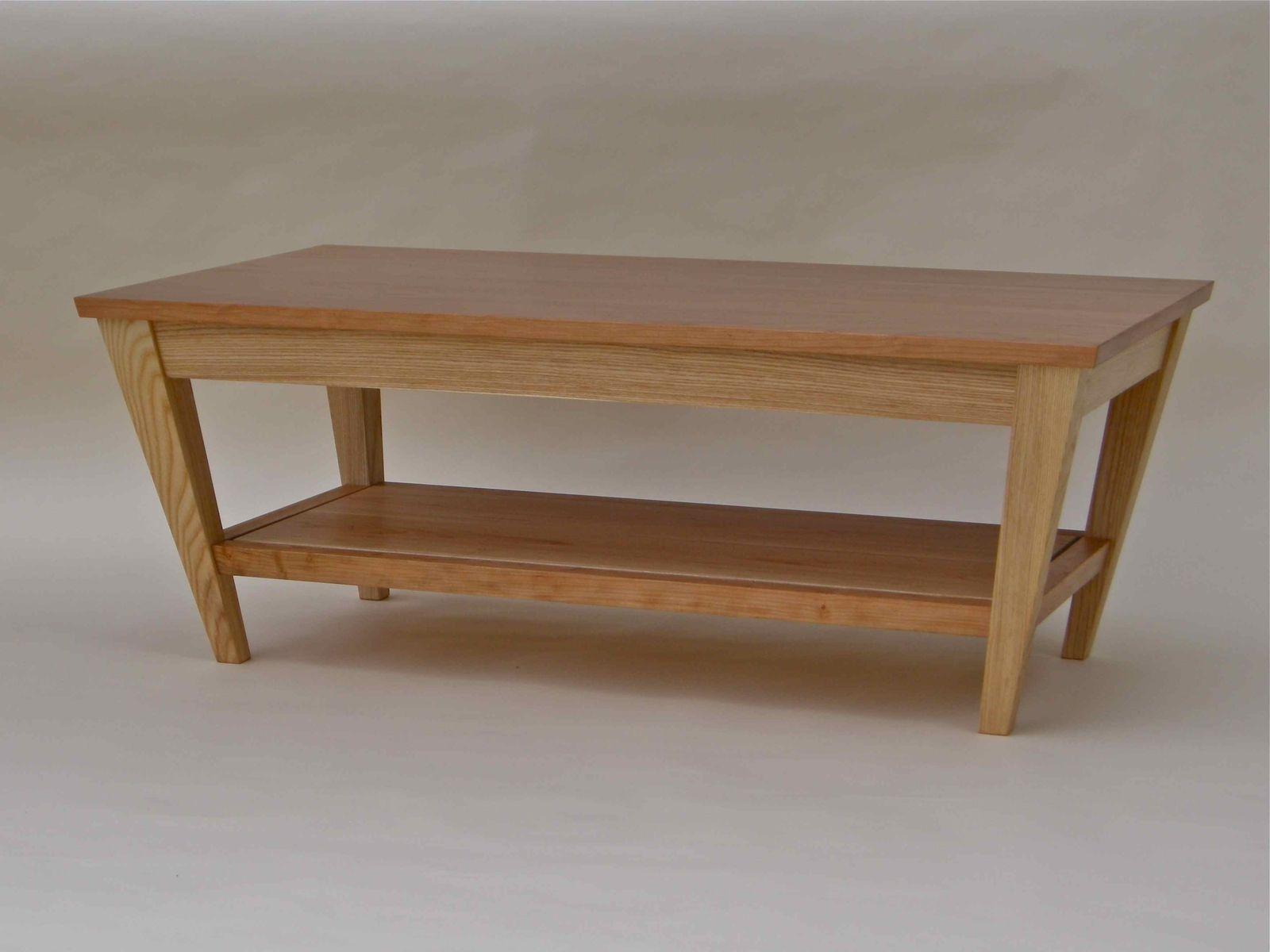 Custom Made Cherry + Ash Coffee Table by Corwin