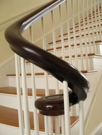 Hand Made Mahogany Continuous Shaped Curved Hand Rail by
