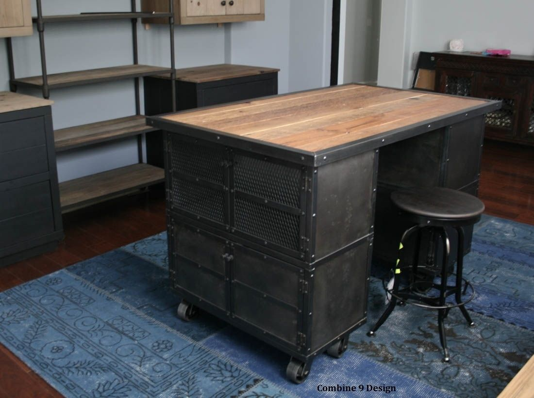Fullsize Of Rustic Industrial Kitchen Island