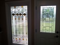 """Hand Made Stained Glass Window - """"Elegant Arts And Crafts ..."""