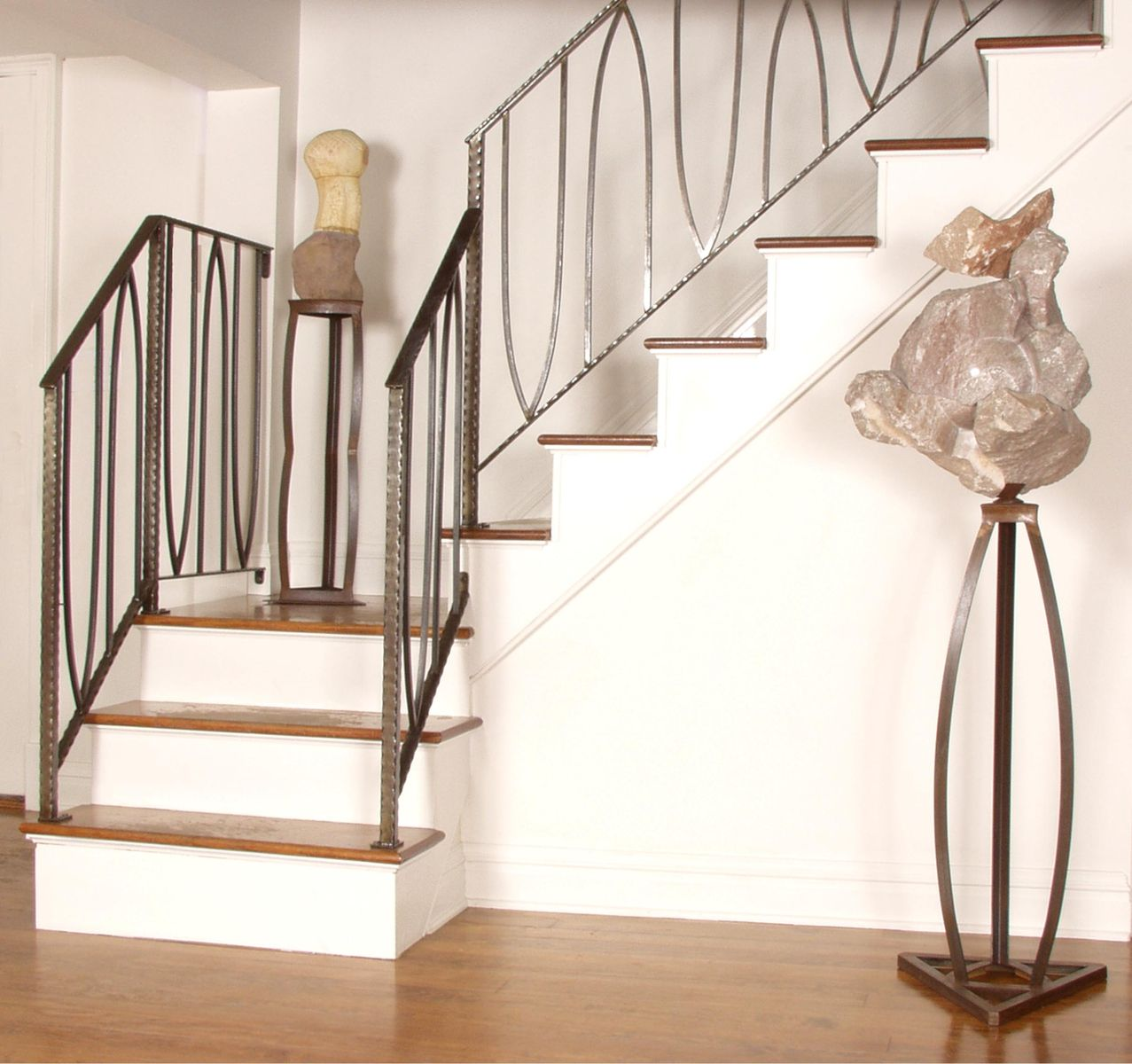 Hand Crafted Anahata Stair Railing By Eric David Laxman