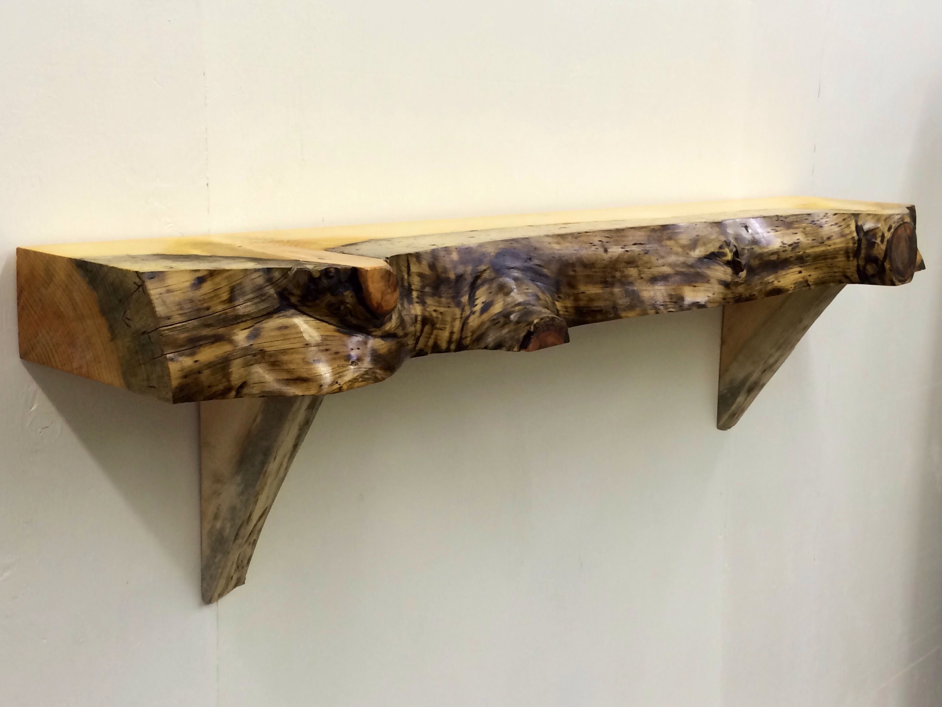 Handmade Fireplace Mantels With A Live Edge By Log Hunter